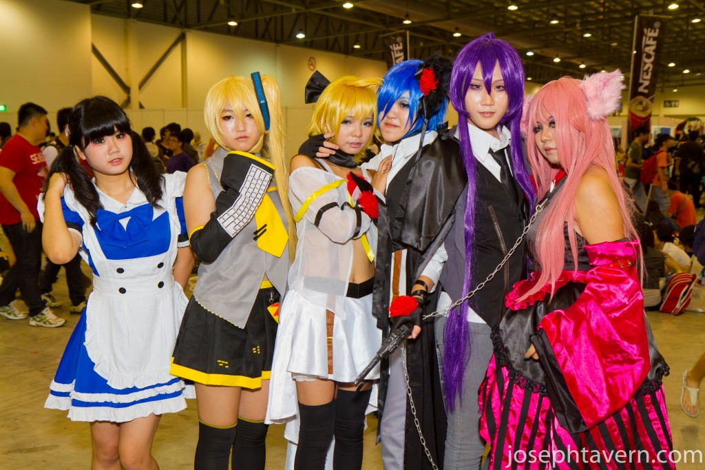 A Group of Cosplayers