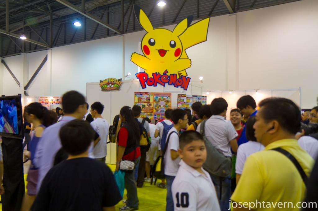Crowded around Pokemon Booth